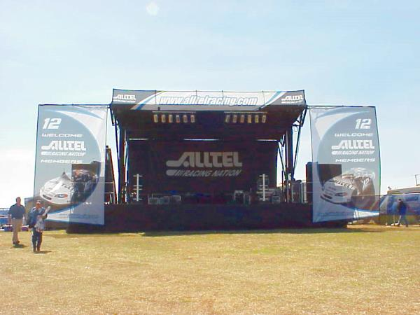 Alltell Racing Nation Stage Setup
